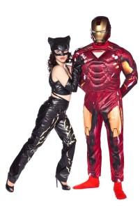 Железный Человек и Женщина Кошка